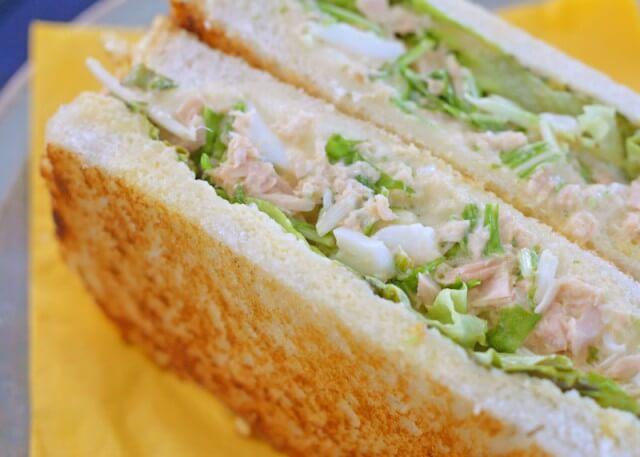 ツナたま水菜サンド